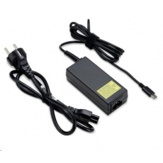 ACER ADAPTER 45W TYPE C APS612 LF BLACK PD2.0, EU POWER CORD (RETAIL PACK)