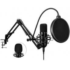 CONNECT IT USB Mikrofon se stolním ramenem ProMic, černá