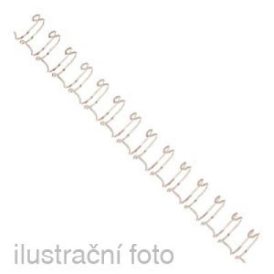 Drátěné hřbety GBC, 3:1, A4/10 mm, bílé