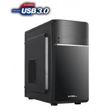 1stCOOL skříň STEP 1, micro ATX, AU, 1x USB 3.0 + 1x USB 2.0, bez zdroje, Black