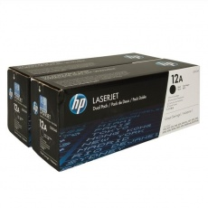 HP 12A Black 2-pack LJ Toner Cart, 2 x 2 000 str, Q2612AD