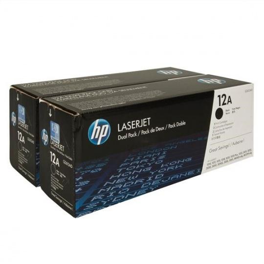 HP 12A Black 2-pack LJ Toner Cart, 2 x 2 000 str, Q2612AD