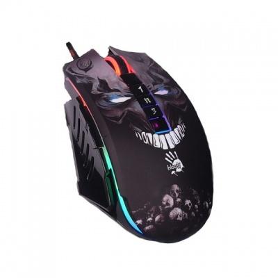 A4tech BLOODY P85, herní myš, 5000DPI, USB, SKULL