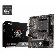 MSI MB Sc AM4 B550M-A PRO, AMD B550, 2xDDR4, 1xHDMI, 1xDVI, mATX