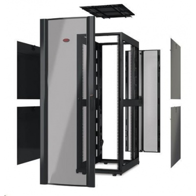 APC NetShelter SX 42U 600mm Wide x 1070mm Deep Enclosure Without Sides Without Doors, Black