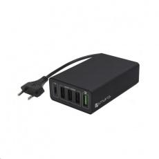4smarts nabíječka do sítě VoltPlug Quick Charge 3.0, 4x USB, 1x USB-C, PD a PPS, černá