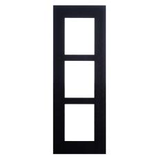 2N® IP Verso - Rám pre inštaláciu do steny, 3 moduly - čierne prevedenie