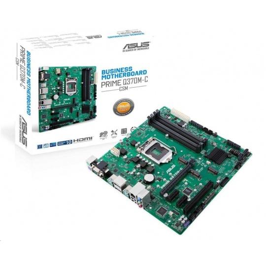 ASUS MB Sc LGA1151 PRIME Q370M-C/CSM (SW + PUR RMA), Intel Q370, 4xDDR4, VGA, mATX