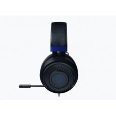 RAZER sluchátka Kraken pro konzole, modro-černé, 3.5 mm jack, herní