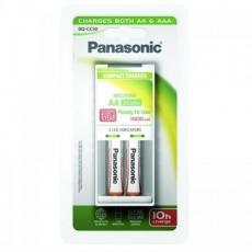 PANASONIC Pokročilá nabíječka K-KJ50LGA20E -vhodné pro AA/AAA, časovač, v balení 2xAA 1000,doba nabíjení +/- 10h