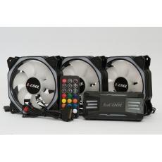 1stCOOL Fan KIT AURA EVO 4 ARGB, 3x HEXA2 ventilátor + ARGB řadič + dálkový ovladač