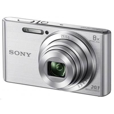 SONY DSCW830S Cyber-Shot 20.1MPix, 8x zoom - stříbrný