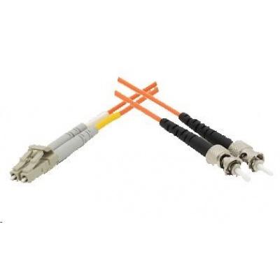 Duplexní patch kabel MM 50/125, OM2, ST-LC, LS0H, 1m