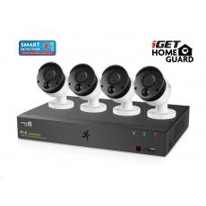 iGET HOMEGUARD HGNVK85304 Kamerový PoE systém se SMART detekcí pohybu, 8-kanálový FullHD NVR + 4x FullHD venkovní kamera