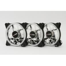 1stCOOL Fan KIT REGULAR EVO, RGB 3x Dual Ring 12cm ventilátor 4pin/12V