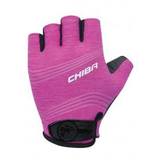 Chiba Cyklistické rukavice pre ženy Lady SuperLight magenta ružové