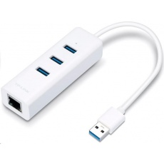 TP-Link UE330 [USB 3.0 3-portový hub & gigabitový ethernet adaptér 2 in 1 USB adaptér]