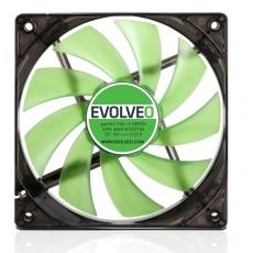 EVOLVEO 12L1GR ventilátor 120mm, 4 LED zelený, 3pin