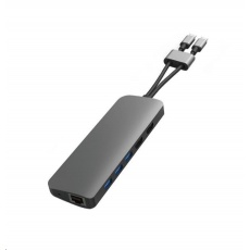 HyperDrive VIPER 10 ve 2 USB-C Hub, šedý