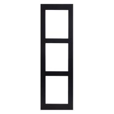 2N® IP Verso - Rám pre inštaláciu na povrch, 3 moduly - čierne prevedenie