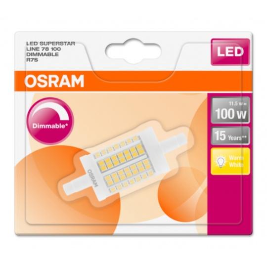 OSRAM LED SUPERSTAR LINE 78 CL 11,5W 827 R7S 1521lm 2700K (CRI 80) 15000h A++ DIM (Krabička 1ks)