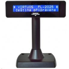 Virtuos zákaznický displej Virtuos FL-2025MB 2x20, USB, černý