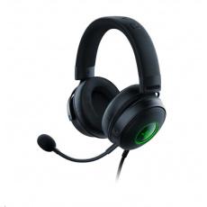 RAZER sluchátka Kraken V3 Hypersense, USB, černá