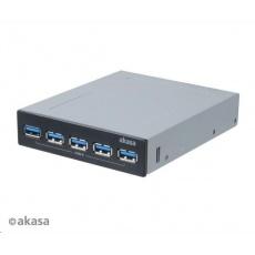 """AKASA HUB USB InterConnect Pro 5S, do 3,5"""" pozice, 5x USB 3.0, interní"""