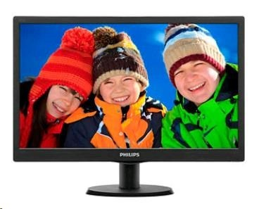 "Philips MT LED 18,5"" 193V5LSB2/10 - 1366x768, 200cd/m, 10mil:1, 5ms, D-Sub, VESA"
