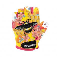 Chiba Cyklistické rukavice pre deti COOL KIDS Včela