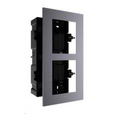 HIKVISION DS-KD-ACF2, rámeček pro modulární interkom, pro 2 moduly, zápustná montáž