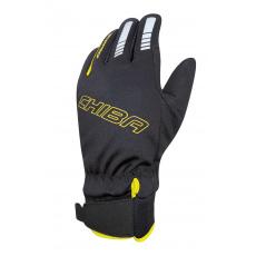 Chiba Zimné cyklistické rukavice pre deti Kids Waterproof čierne/neónovo žlté