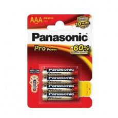 PANASONIC Alkalické baterie Pro Power LR03PPG/4BP AAA 1,5V (Blistr 4ks)