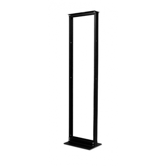 APC NetShelter 2 Post Rack 45U #12-24 Threaded Holes Black