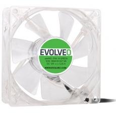 EVOLVEO 14L1GR ventilátor 140mm, 4 LED zelený, 3pin