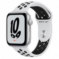 APPLE Watch Nike SE GPS, 44mm Silver Alum. Case with Pure Platinum/Black Nike Sport Band - Regular