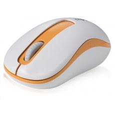 RAPOO myš M10 USB, optická, bezdrátová, 2.4G, oranžová