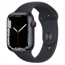 Apple Watch Series 7 Cell, 45mm Midnight/Midnight SportBand