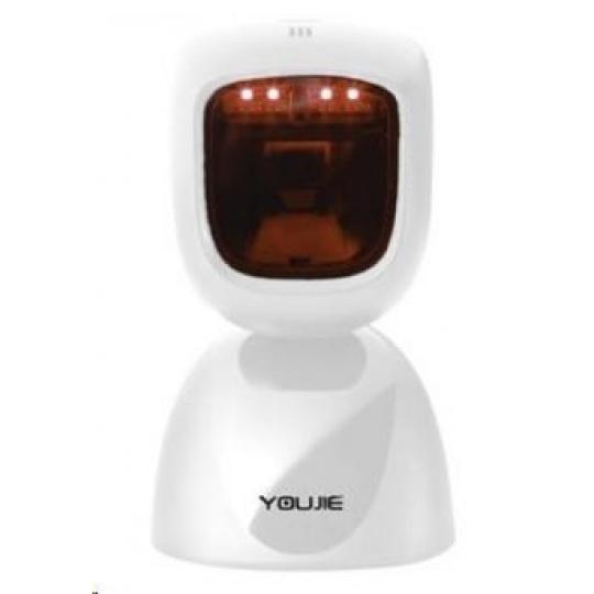 Honeywell Youjie HF600, 2D, multi-IF, kit (USB), bílá