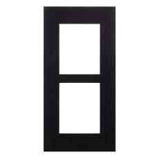 2N® IP Verso - Rám pre inštaláciu do steny, 2 moduly - čierne prevedenie