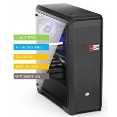 ABCOM GI7005 i7-9700, 16 GB RAM 240 GB SSD + 1 TB, GTX1660Ti 6GB