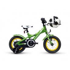 S'COOL  Detský bicykel XXlite futbal 12 zelený (od 99 cm)