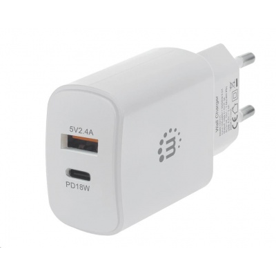 MANHATTAN USB nabíječka Power Delivery Wall Charger – 27 W, bílá