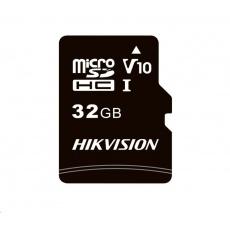 HIKVISION MicroSDHC karta 32GB C1 (R:92MB/s, W:15MB/s) + adapter