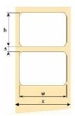 OEM samolepící etikety 38mm x 19mm, bílý papír, cena za 3000 ks