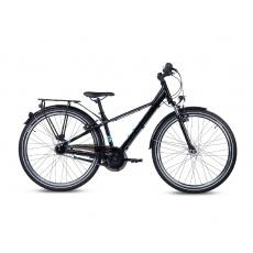 S'COOL  Detský bicykel troX EVO 7-Gang čierny/modrý