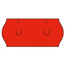 cenovkové etikety 26x12 UNI - červené (pre etiketovacie kliešte) 1.500 ks/rol.