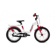 S'COOL  Detský bicykel niXe EVO 16 bielo/červený (od 111 cm)