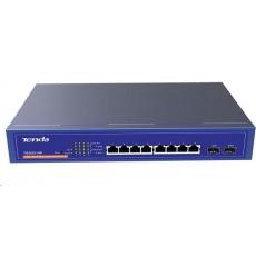 Tenda TEG3210P WebSmart Gigabit PoE AT Switch, 8x PoE AF/AT 10/100/1000Mbps, 2xSFP 1Gbps