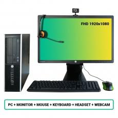 SET HP Compaq Pro 6300 SFF- Pentium G2020 2.9GHz/4GB RAM/250GB HDD/Intel HD/W10PRO
